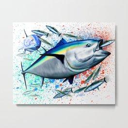 Bluefin Blitz - Bluefin Tuna Metal Print
