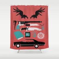 supernatural Shower Curtains featuring Supernatural by Abbie Imagine