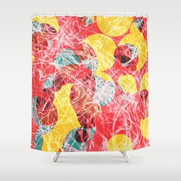 Colorful abstract artwork Shower Curtain