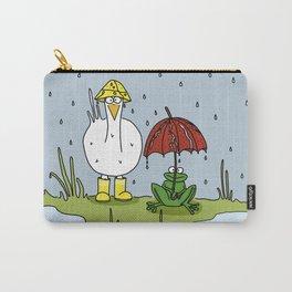 Eglantine la poule (the hen) under the rain. Carry-All Pouch
