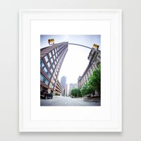detroit Framed Art Prints featuring Detroit by Erin McConnell