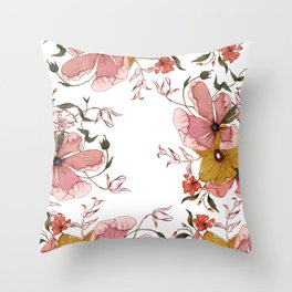 Words that water flowers Throw Pillow
