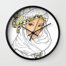 Bedouin Girl Wall Clock