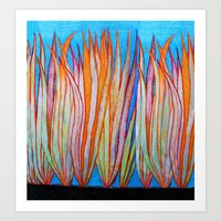 grass Art Prints featuring Grass by Brontosaurus