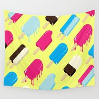 popsicle Wall Tapestries featuring Popsicle by Sher Mavro ART