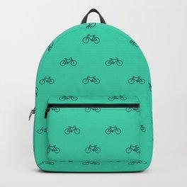 Turquoise Bike Print Backpack