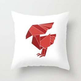 "Collection ""Origami"" impression ""Phoenix"" Throw Pillow"