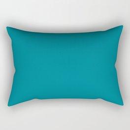 Teal Solid Rectangular Pillow