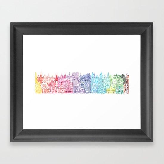 Belgium Towers  Framed Art Print