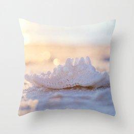Bokeh and the Starfish Throw Pillow