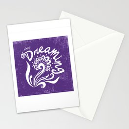 Keep Dreaming- Purple Stationery Cards