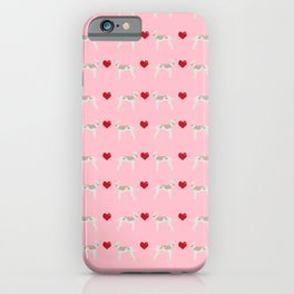 Italian greyhound love hearts valentine dog breed gifts iPhone Case