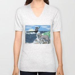 Otters Love Unisex V-Neck