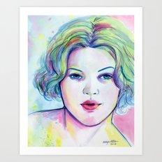 Neon Drew Art Print