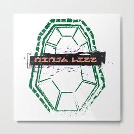 Ninja Lizz Logo Metal Print