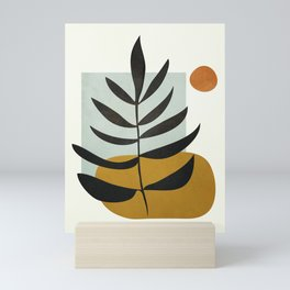 Soft Abstract Large Leaf Mini Art Print
