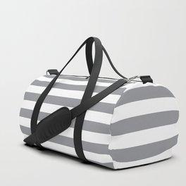 Horizontal Grey Stripes Duffle Bag