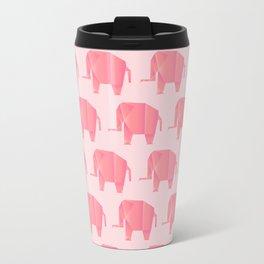 Big, Happy Elephant - Origami Pink Elephant Travel Mug