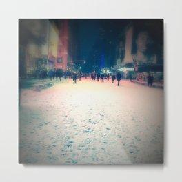 Desolate Times Square Metal Print