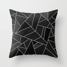 Black Stone Throw Pillow
