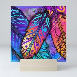 Ruffle My Feathers Mini Art Print