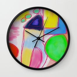 Funky Abstract Painting Wall Clock