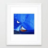sailing Framed Art Prints featuring Sailing by Brontosaurus