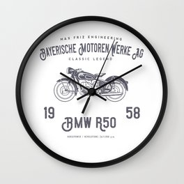 Vintage German Motorcycle T Shirt, 1958 Retro Bikers Model Wall Clock
