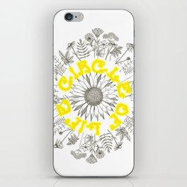Circle Of Life Mandala With Hand Drawn Flowers iPhone Skin