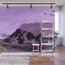 Chugach Mountains - EggPlant Pop Art Wall Mural
