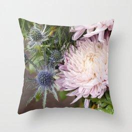 Dahlias in Bloom Throw Pillow
