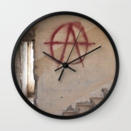 Abandoned house 1 Wall Clock