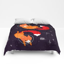 Space Foxes Comforters