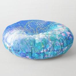 Blue nebula Floor Pillow