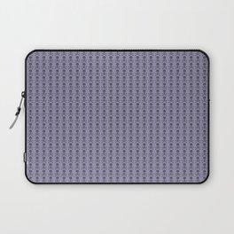 Black and Lavender Skulls Laptop Sleeve