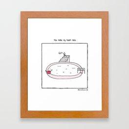 You Make My Heart Race Framed Art Print