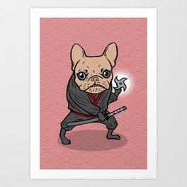 Frenchie Ninja Art Print
