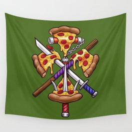 Ninja Pizza Wall Tapestry