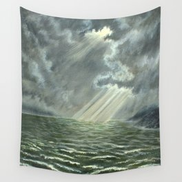 Sunbeams and Rolling Seas Wall Tapestry