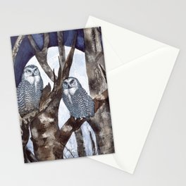 Night Owls by Maureen Donovan Stationery Cards
