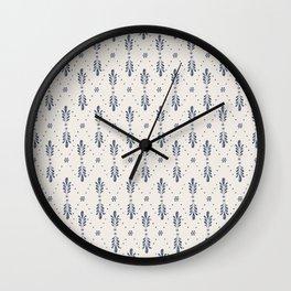 Indigo Meadow Wall Clock