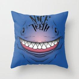 Nice Teeth Throw Pillow