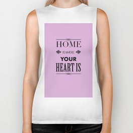 Home is where - pink Biker Tank