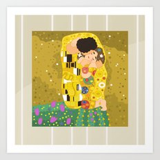 The Kiss (Lovers) by Gustav Klimt  Art Print