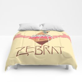 World in Pink - Zebrat Single Art Comforters
