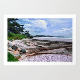 Carmel Beach California Coastal Landscape Art Print