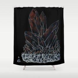 Inktober Inverted Crystal Shower Curtain