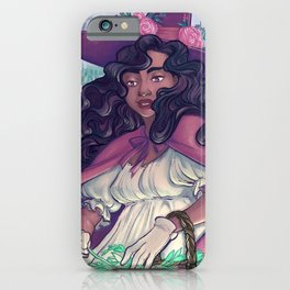 Spring Witch Collecting Herbs iPhone Case