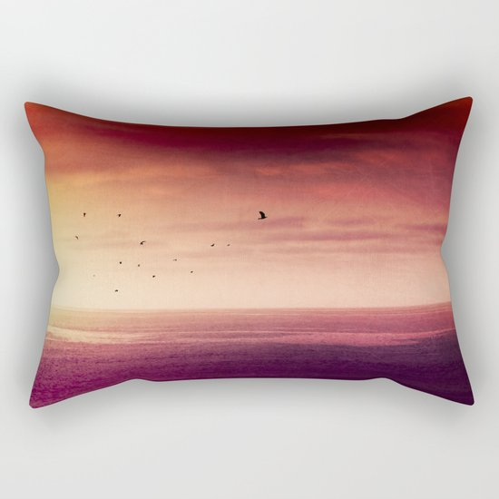 Red SunRise over the ATLANTIC Rectangular Pillow
