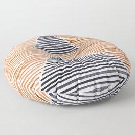 Rosario Watercolor Print in Burnt Orange Floor Pillow